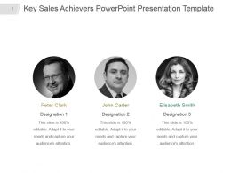 Key Sales Achievers Powerpoint Presentation Template