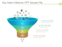 Key Sales Initiatives Ppt Sample File