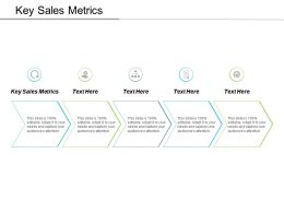Key Sales Metrics Ppt Powerpoint Presentation Ideas Graphics Tutorials Cpb