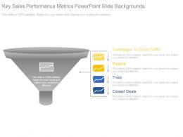 Key Sales Performance Metrics Powerpoint Slide Backgrounds