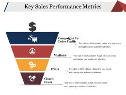 Key Sales Performance Metrics Ppt Background Images