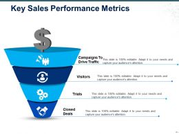 Key Sales Performance Metrics Ppt Design