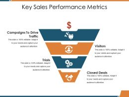 Key Sales Performance Metrics Ppt Templates