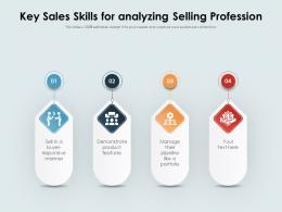 Key Sales Skills For Analyzing Selling Profession