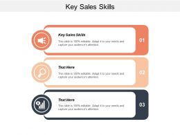 Key Sales Skills Ppt Powerpoint Presentation Infographics Show Cpb