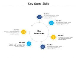 Key Sales Skills Ppt Powerpoint Presentation Pictures Design Inspiration Cpb