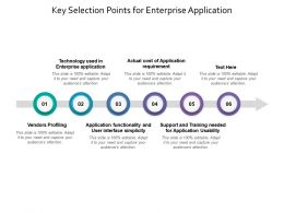Key Selection Points For Enterprise Application