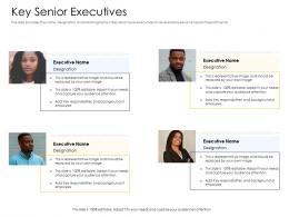 Key Senior Executives Alternative Financing Pitch Deck Ppt Powerpoint Presentation Mockup