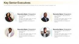 Key Senior Executives Community Financing Pitch Deck Ppt Inspiration Graphics Example
