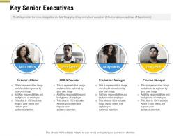Key Senior Executives Pitch Deck Raise Funding Pre Seed Money Ppt Structure