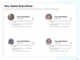 Key Senior Executives Should Be Ppt Powerpoint Presentation Show Influencers