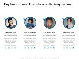 Key Senior Level Executives With Designations Ppt Model Structure