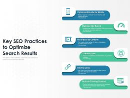 Key SEO Practices To Optimize Search Results