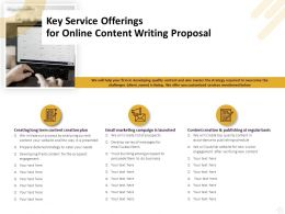 Key Service Offerings For Online Content Writing Proposal Ppt Slides