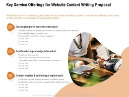 Key Service Offerings For Website Content Writing Proposal Ppt Powerpoint Presentation Slides Influencers