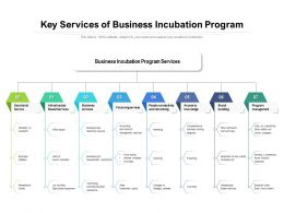 Key Services Of Business Incubation Program