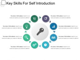 Key Skills For Self Introduction Presentation Outline