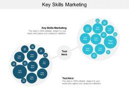 Key Skills Marketing Ppt Powerpoint Presentation Ideas Background Images Cpb
