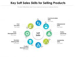 Key Soft Sales Skills For Selling Products