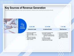 Key Sources Of Revenue Generation Investment Income Ppt Powerpoint Presentation Rules