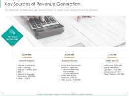 Key Sources Of Revenue Generation Ppt Powerpoint Presentation Layouts Design Templates