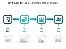 Key Stages For Project Implementation Process