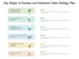 Key Stages To Develop And Implement Sales Strategy Plan
