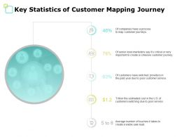 Key Statistics Of Customer Mapping Journey Dollar Ppt Powerpoint Presentation File Format