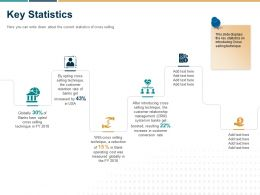 Key Statistics Selling Technique Ppt Powerpoint Presentation Outline Topics
