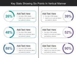 Key Stats Showing Six Points In Vertical Manner
