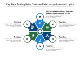 Key Steps Building Better Customer Relationships Increased Loyalty Ppt Powerpoint Presentation Model Graphics Cpb