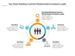 Key Steps Building Customer Relationships Increased Loyalty Ppt Powerpoint Presentation Inspiration Template Cpb