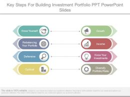 Key Steps For Building Investment Portfolio Ppt Powerpoint Slides