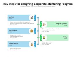 Key Steps For Designing Corporate Mentoring Program