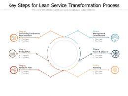 Key Steps For Lean Service Transformation Process