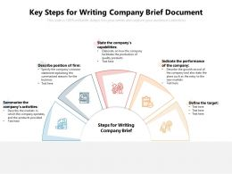 Key Steps For Writing Company Brief Document