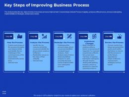 Key Steps Of Improving Process Improvement In Banking Sector Ppt Show Good
