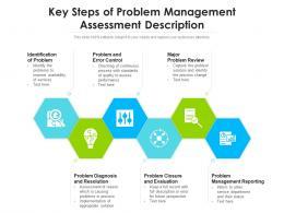 Key Steps Of Problem Management Assessment Description