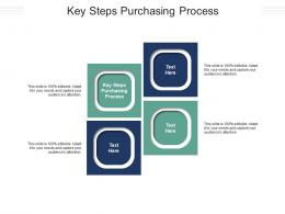 Key Steps Purchasing Process Ppt Powerpoint Presentation Pictures Design Ideas Cpb