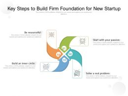 Key Steps To Build Firm Foundation For New Startup