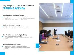 Key Steps To Create An Effective Training Agenda