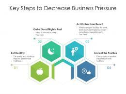 Key Steps To Decrease Business Pressure