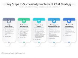 Key Steps To Successfully Implement CRM Strategy