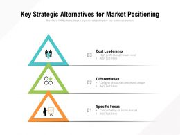 Key Strategic Alternatives For Market Positioning