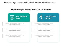 Key Strategic Issues And Critical Factors With Success Factors