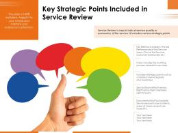Key Strategic Points Included In Service Review