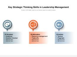 Key Strategic Thinking Skills In Leadership Management