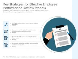Key Strategies For Effective Employee Performance Review Process