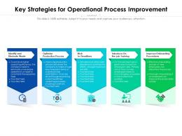 Key Strategies For Operational Process Improvement