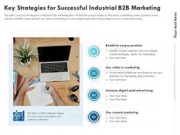 Key Strategies For Successful Industrial B2B Marketing